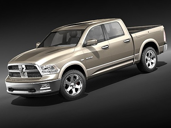 3d dodge ram 2009 double - dodge ram 2009 double cab midpoly... by squir
